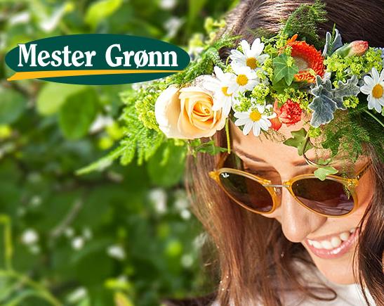 Blomsterkrans til St. Hans-festen