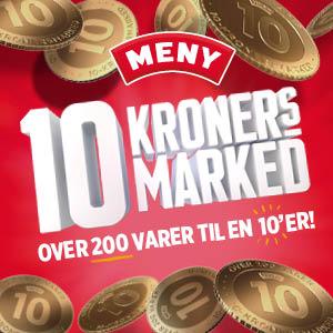 10 kronersmarked hos MENY
